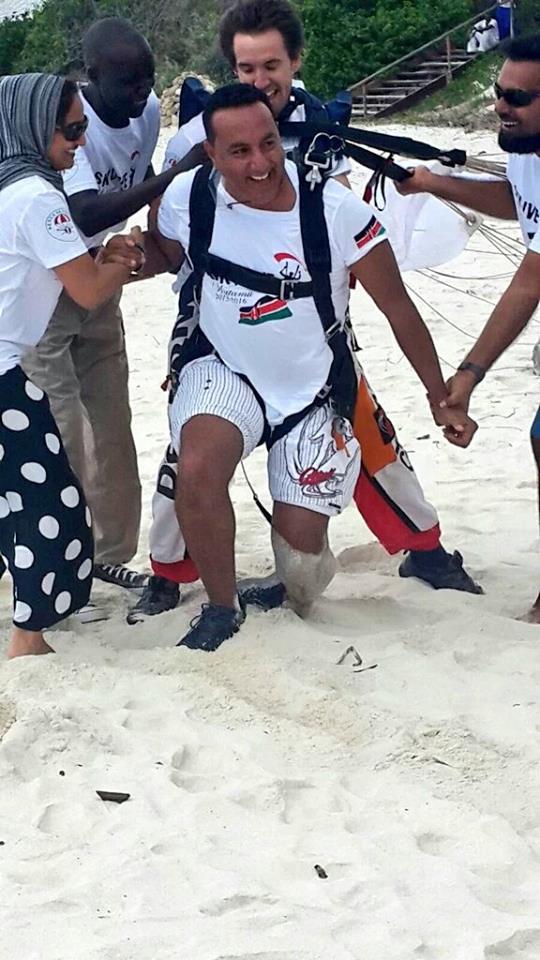 CS Balala lands at a Watamu beach