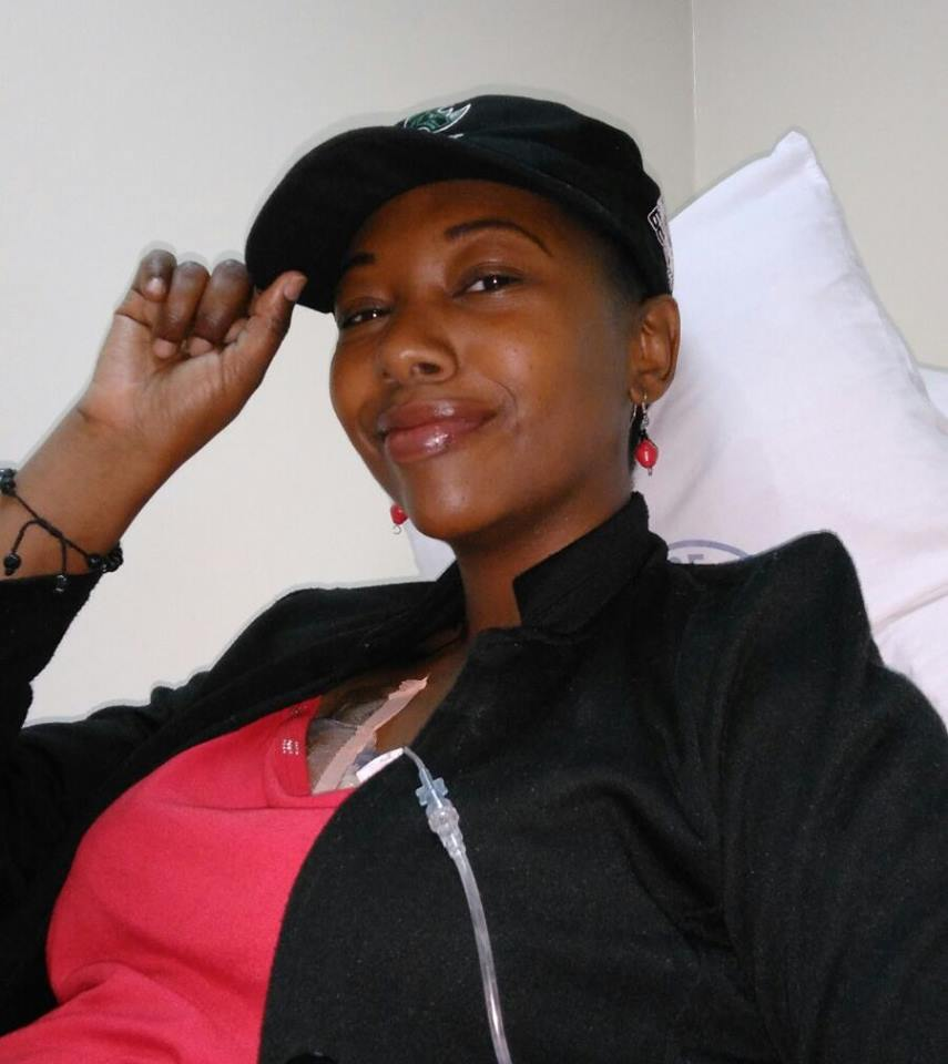 Janet after undergoing treatment in India