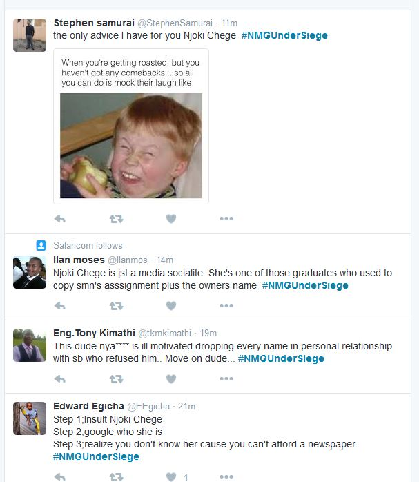 Njoki Chege Plagiarist claims #NMGUnderSiege 2