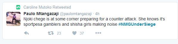 Reactions Njoki Chege Plagiarist claims #NMGUnderSiege