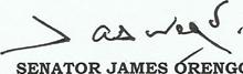 Senator James Orengo Signature
