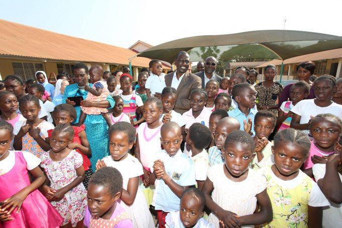 William Samoei Ruto in Kasisi Children Home in Lusaka, Zambia