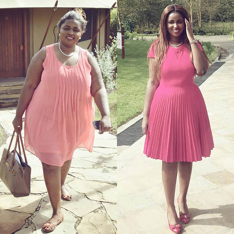 Anerlisa Muigai Karanja after weight loss