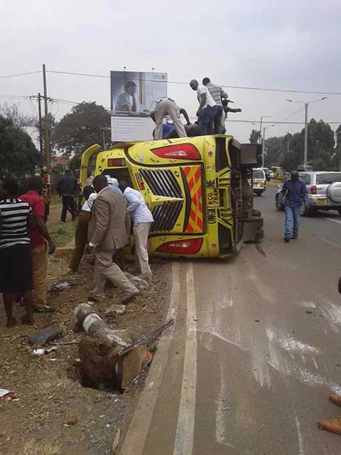 Four killed in Langata Road matatu as tout was driving