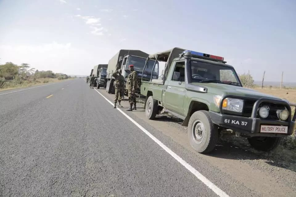Kenya Defence Forces (KDF) in Tanzania on a humanitarian mission after a major earthquake