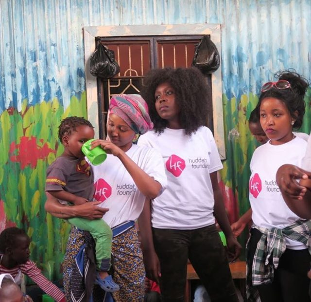 Huddah Monroe celebrates her Birthday in Korogocho