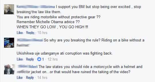 boniface-mwangi-no-helmet-reactions