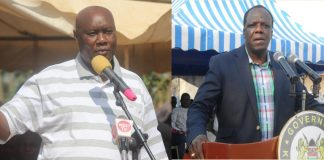Busia Governor Sospeter Ojaamong and Kakamega governor Wycliffe Oparanya