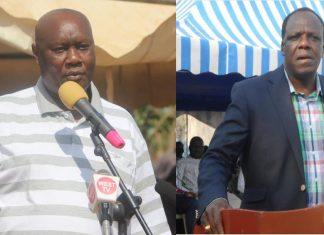Busia Governor Sospeter Ojaamong and Kakamega governor Wycliffe Oparanya