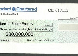 Finally Raila Odinga Agrees Pays back Three hundred and eighty million shillings he owes Mumias Sugar Limited