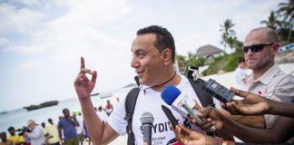 Tourism Cs Najib Balala sky dive