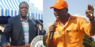 National ODM youth leader Rashid Mohammed and Kakamega county Governor and ODM deputy party leader Wycliffe Oparanya