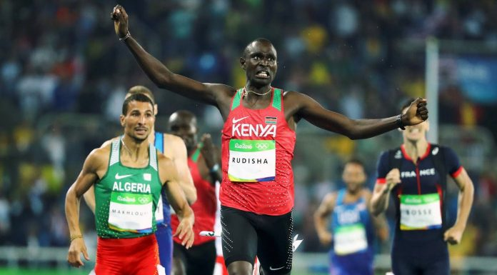 David Rudisha Wins another Gold for Kenya in the Men's 800m