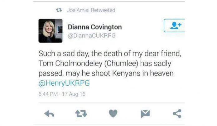 Dianna Covington has just got her fingers burnt by #KOT