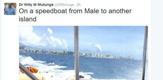 Dr Willy Mutunga in Maldives