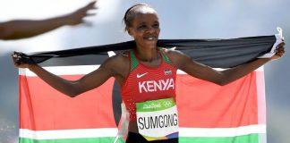 Jemima Jelagat Sumgong won Gold in Rio 2016 Olympics marathon