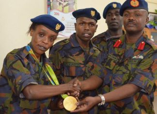 Kenya Defence Forces for promoting Jemima Sumgong from Senior Private to Corporal