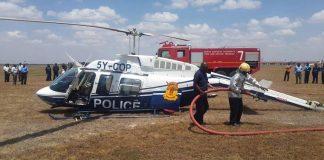 Kenya Police chopper crash lands at Wilson Airport during training