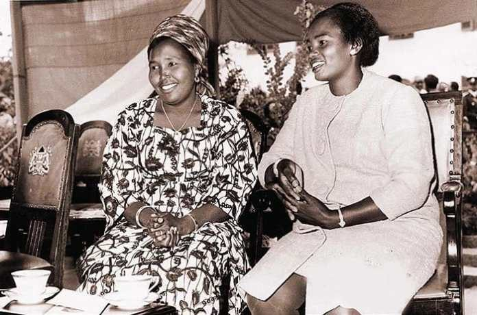 Lucy Kibaki (extreme left), Mama Ngina Kenyatta (second right, next to Jomo Kenyatta) (2)