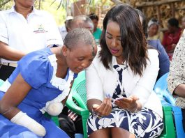 Machakos First Lady Lilian Nganga and Jackline Mwende