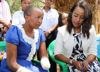 Machakos First Lady Lilian Nganga and Jackline Mwende