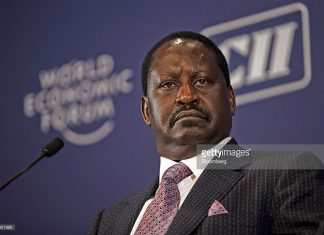 Kenya's former Prime Minister Raila Odinga
