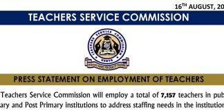 TSC Teachers Massive Recruitment