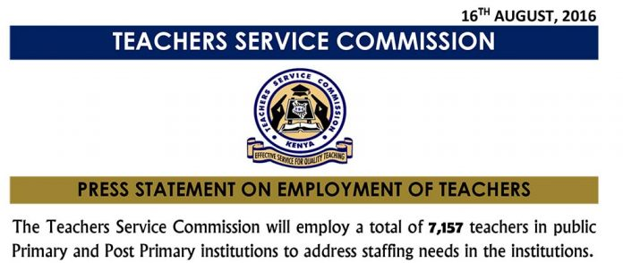 TSC Teachers Massive Recruitment