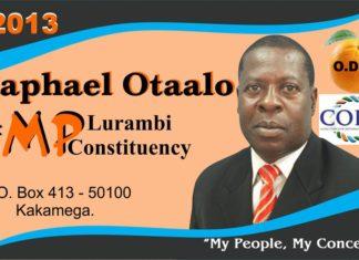 Raphael Otaalo MP Lurambi Constituency