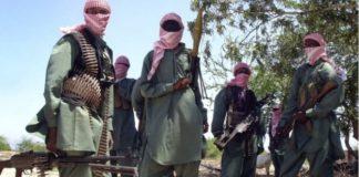 Terror Group Al-Shabaab Display photos of dead Kenyan Police Officers