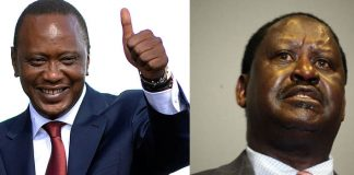 Uhuru Beats Raila Badly is elections were help today