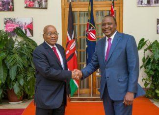 Uhuru Kenyatta and Jacob Zuma