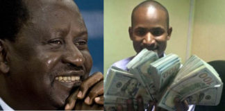 CORD leader Raila Odinga and SONU chairman Babu Owino