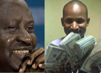 CORD leader Raila Odinga and SONU chairman Babu Owino