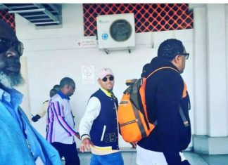 Chris Brown smashes fan's phone in Mombasa
