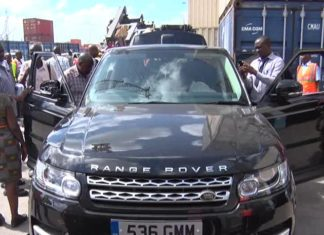 KRA Seizes Containers Carrying Range Rovers hidden in 40 feet containers