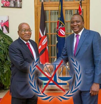 President Jacob Zuma President Kenyatta on leaving International Criminal Court ICC