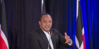 President Uhuru Kenyatta at accountability summit at State House in Nairobi