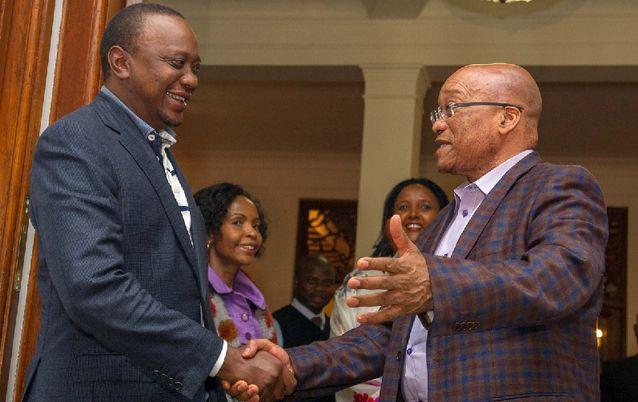 Uhuru Kenyatta and Jacob Zuma 3 three day state visit in Nairobi October 2016