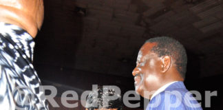 Raila Odinga Parties All Night with Sexy Babes in Uganda