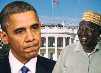 Obama and Obama's half-brother Malik