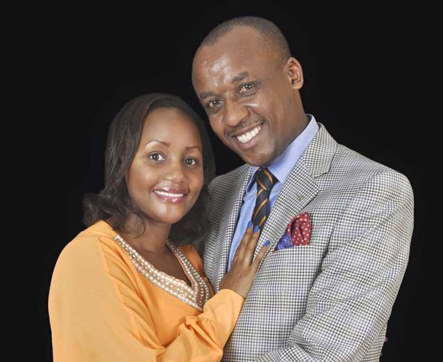 Senator Mutula Kilonzo Junior and his wife