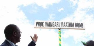 renaming of the current Forest Road in Nairobi to Professor Wangari Maathai Road
