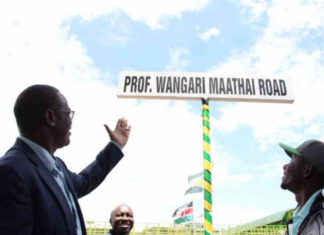 renaming of the current Forest Road in Nairobi to Professor Wangari Maathai Road