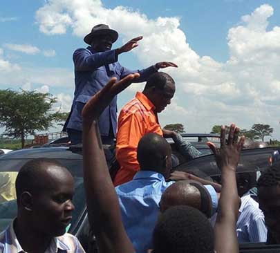 Raila Odinga and Wycliff Oparanya Chased Away from Mumias