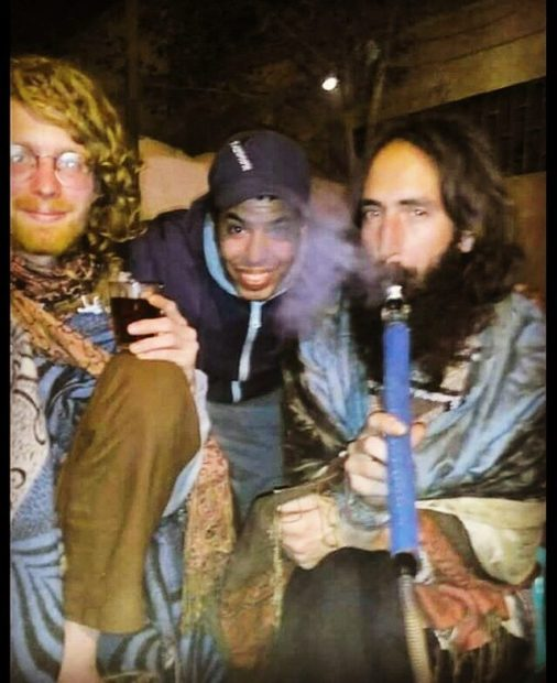 Shisha Smoking Jesus is spending his Weekend While in Kenya