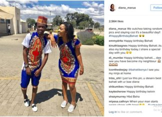 Bahati and Girlfriend Diana Marua