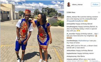 Bahati and Girlfriend Diana Marua