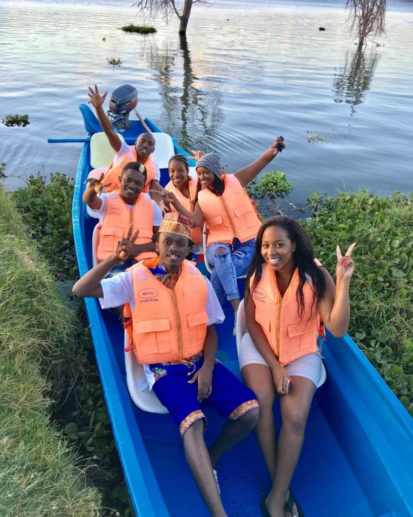 Bahati New Girlfriend Diana Marua boat ride