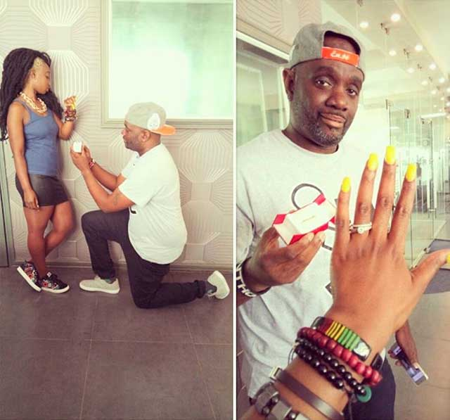 G Money Proposes to Citizen TV's Talia Oyando